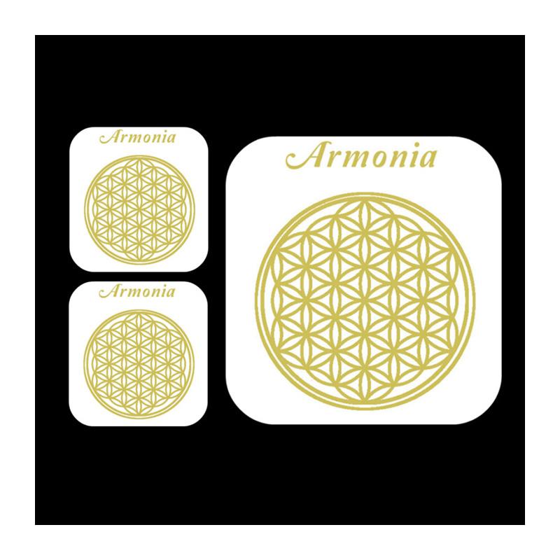 48058e8486 Set di 3 adesivi trasparenti con simbolo FIORE DELLA VITA in ORO 24k per la  memoria dell'acqua e gli ambienti | Ananda Inner Life cod. 243
